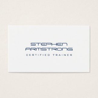 Glattes futuristisches Beratermarineblau beruflich Visitenkarte