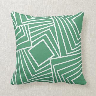 Glattes geometrisches Muster im neuen Grün Kissen