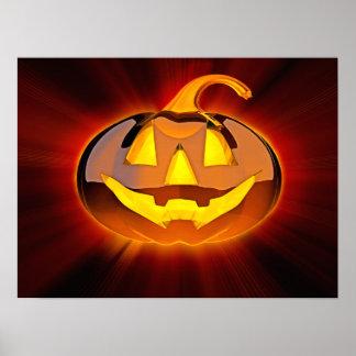 Glattes Halloween-Kürbis-Plakat Poster
