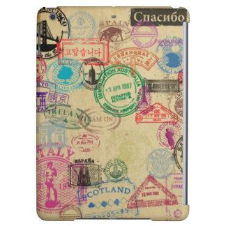 Glattes iPad Air ケース der Vintagen Pass-Briefmarken