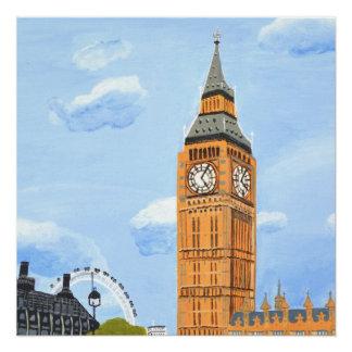 Glattes Plakat Big Bens London Poster