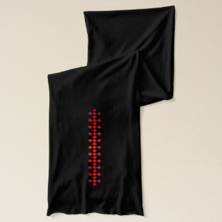 Glattes rotes glänzendes kariertes DiamondsScarf Schal