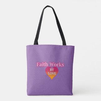 Glaube arbeitet durch Liebe-Taschen-Tasche Tasche