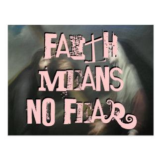 Glaube bedeutet keine Furcht (laundrymat) Postkarten