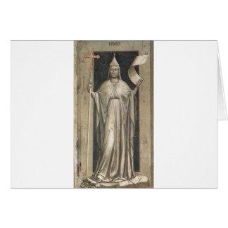 Glaube durch Giotto Karte