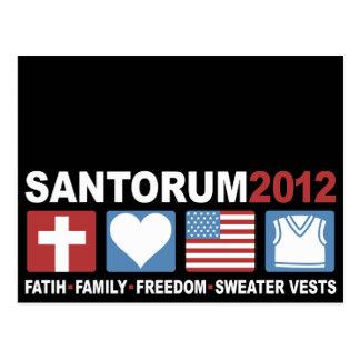 Glaube, Familie, Freiheit und Strickjacke-Westen Postkarte