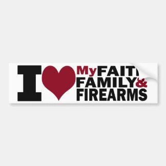 Glaube, Familie u. Feuerwaffen-Autoaufkleber Autoaufkleber