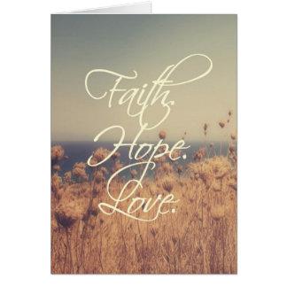 Glaube. Hoffnung. Liebe. Anmerkungs-Karte Karte