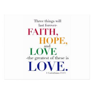 Glaube, Hoffnung, Liebe, das bestste von diesen Postkarte