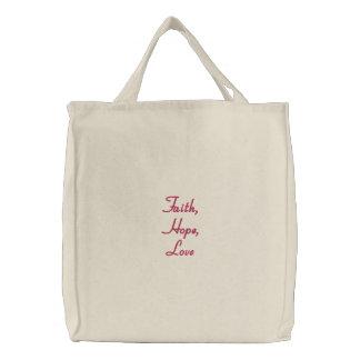 Glaube, Hoffnung, Liebe-Tasche
