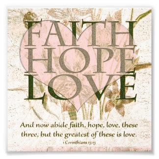 Glaube, Hoffnung und Liebe Kunst Foto