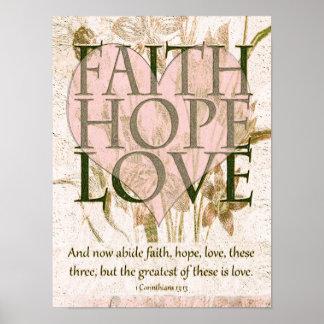 Glaube, Hoffnung und Liebe Poster