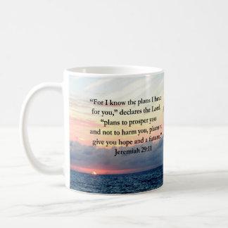 GLAUBE IM JEREMIAS-29:11 SONNENAUFGANG-VERS KAFFEETASSE