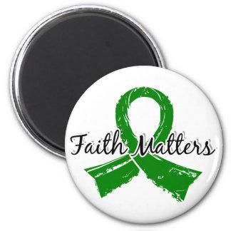 Glaube ist 5 psychische Gesundheiten von Bedeutung Runder Magnet 5,7 Cm