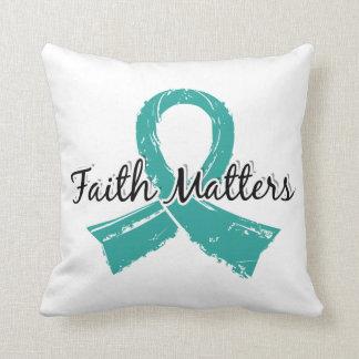 Glaube ist peritonealer Krebs 5 von Bedeutung Zierkissen