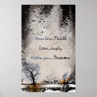 Glaube, Liebe, träumt Sammlung - Plakat