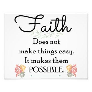 Glaube macht Sachen nicht einfache, christliche Fotodruck