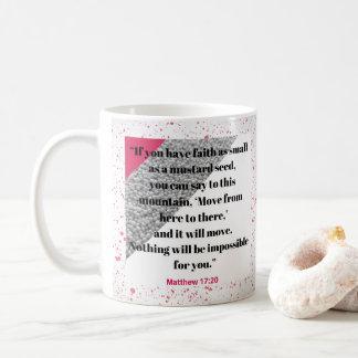Glaube mögen eine Senf-Samen-Bibel-Vers-Tasse Kaffeetasse