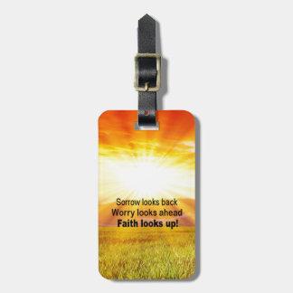 Glaube schaut oben! gepäckanhänger