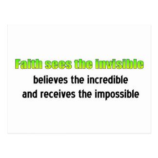 Glaube sieht das unsichtbare postkarte