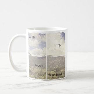 Glaube, zum der Berge zu bewegen Kaffeetasse