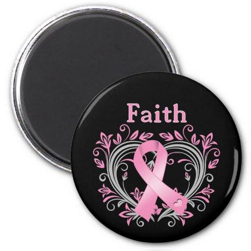 Glauben-Brustkrebs-Bewusstseins-Band Kühlschrankmagnete