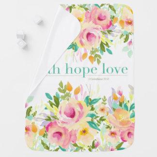 Glauben-Hoffnungs-Liebe| Babydecke