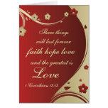 Glauben-Hoffnungs-Liebe-Bibel-Vers kundengebundene Grußkarte