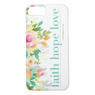 Glauben-Hoffnungs-Liebe | BlumeniPhone 7 iPhone 8/7 Hülle
