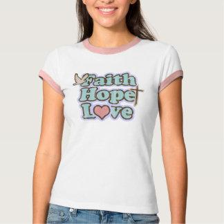 Glauben-Hoffnungs-Liebe christlich T-Shirt