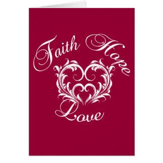 Glauben-Hoffnungs-Liebe-christlicher Bibel-Vers Karte