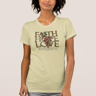 Glauben-Hoffnungs-Liebe-christlicher Bibel-Vers Tshirt