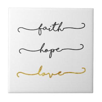Glauben-Hoffnungs-Liebe Fliese