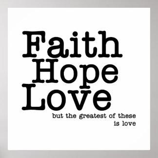 Glauben-Hoffnungs-Liebe-Plakat Poster