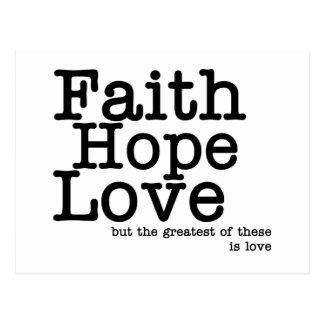 Glauben-Hoffnungs-Liebe-Postkarte Postkarten