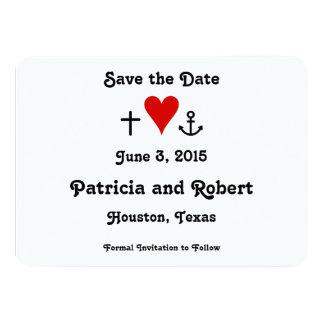 Glauben-Hoffnungs-Liebe | Save the Date 11,4 X 15,9 Cm Einladungskarte