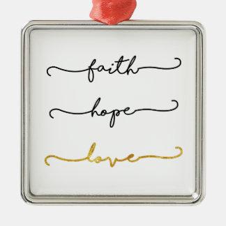 Glauben-Hoffnungs-Liebe Silbernes Ornament