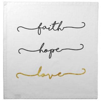 Glauben-Hoffnungs-Liebe Stoffserviette