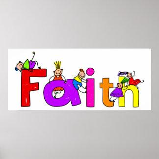 Glauben-Kinder Poster
