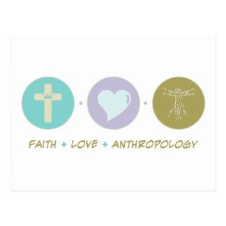 Glauben-Liebe-Anthropologie Postkarte