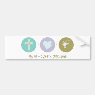 Glauben-Liebe-Bohrung Auto Sticker