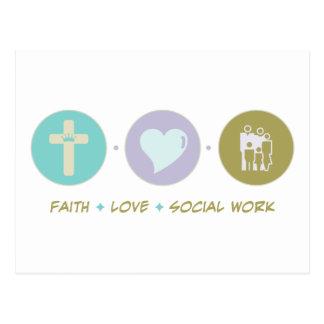 Glauben-Liebe-Sozialarbeit Postkarte