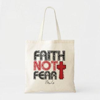 Glauben-nicht Furcht Bling Leben-Budget-Tasche Tragetasche