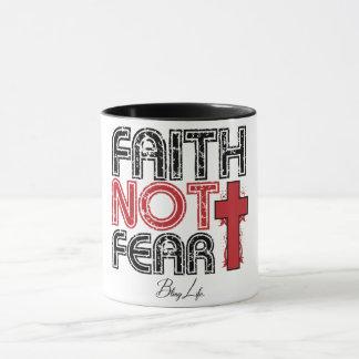 Glauben-nicht Furcht-Schwarzes 11-Unze-kombinierte Tasse