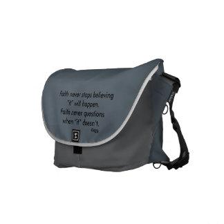 Glauben-nie Bote-Tasche w/Blue erweiterte sich Kuriertaschen