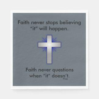 Glauben-nie Servietten w/Blue erweiterten sich