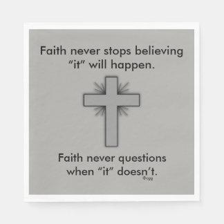 Glauben-nie Servietten w/Grey erweiterten sich