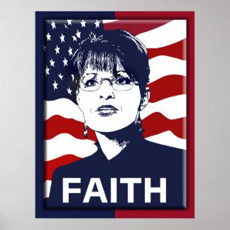Glauben-Plakat Sarahs Palin Poster
