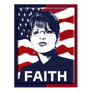Glauben-Postkarte Sarahs Palin Postkarten