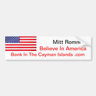 Glauben Sie an Amerika-Bank auf den Kaimaninseln Autoaufkleber